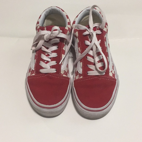 557fec6a91 Vans Red checkered shoes